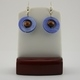 Brown Wood with Blue Mother of Pearl Earrings