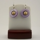 White with Purple Mother of Pearl Earrings 2